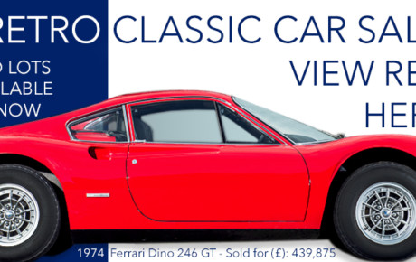 Auction report on the Silverstone Race Retro Classic Car Sale,
